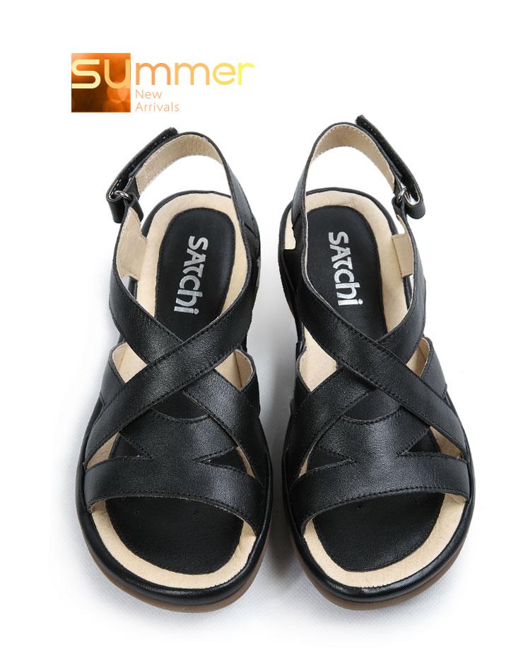 沙驰satchi 2012夏季时尚休闲女凉鞋露趾平底皮带