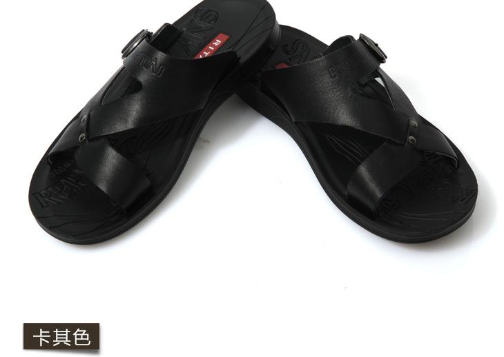 日泰2012夏季男士凉鞋凉皮鞋正品沙滩鞋男休闲皮凉