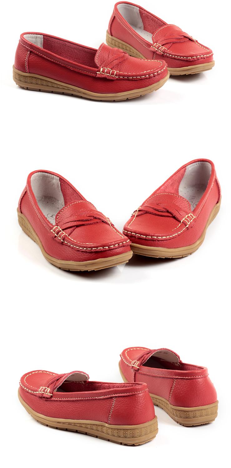 皮女单鞋/平底女皮鞋