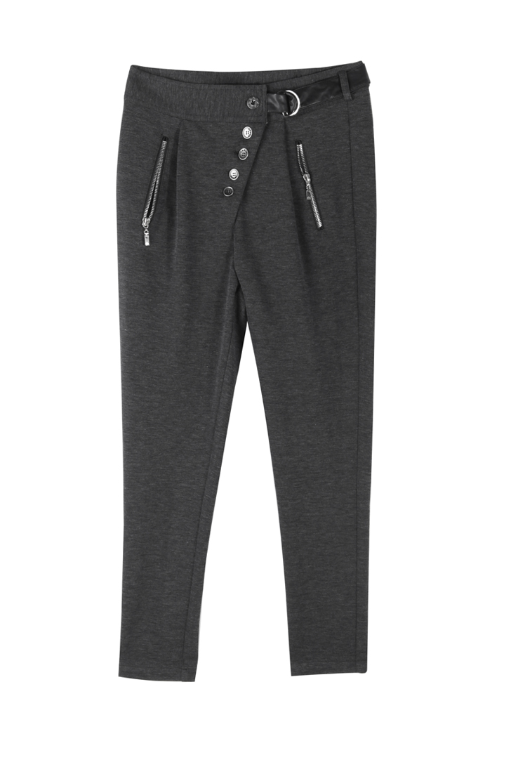 高腰休闲长裤时尚配