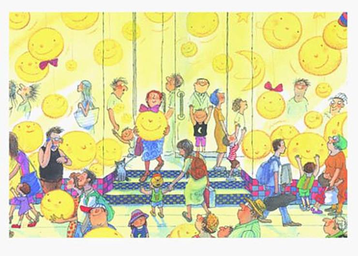 小孩子領獎卡通圖片