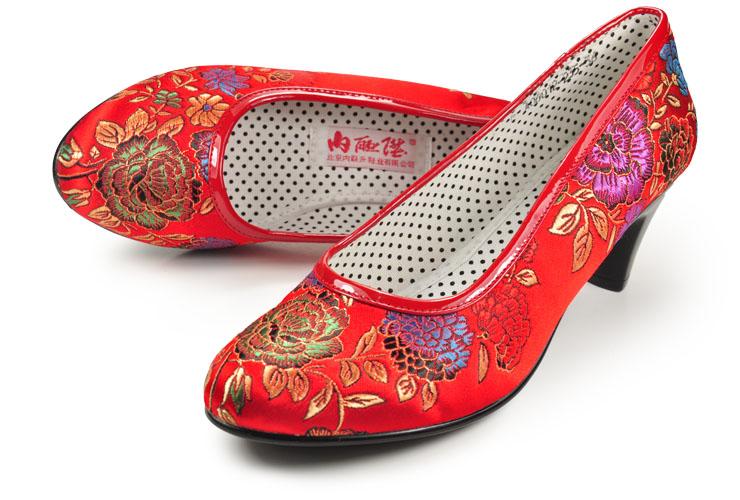 织锦女式婚鞋 老北京布鞋