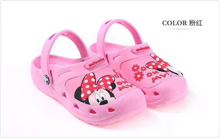迪士尼disney女童儿童凉拖鞋洞洞鞋