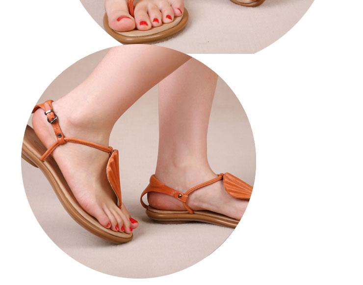 2012平底鞋新款真皮女凉鞋s1221-6