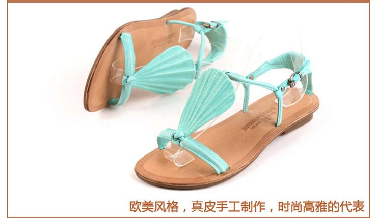凯萨罗帝新款真皮女凉鞋女鞋露趾休闲鞋s1221-11