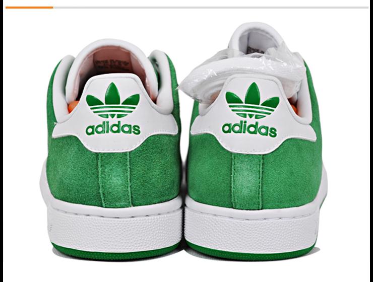 阿迪达斯灰绿色鞋子