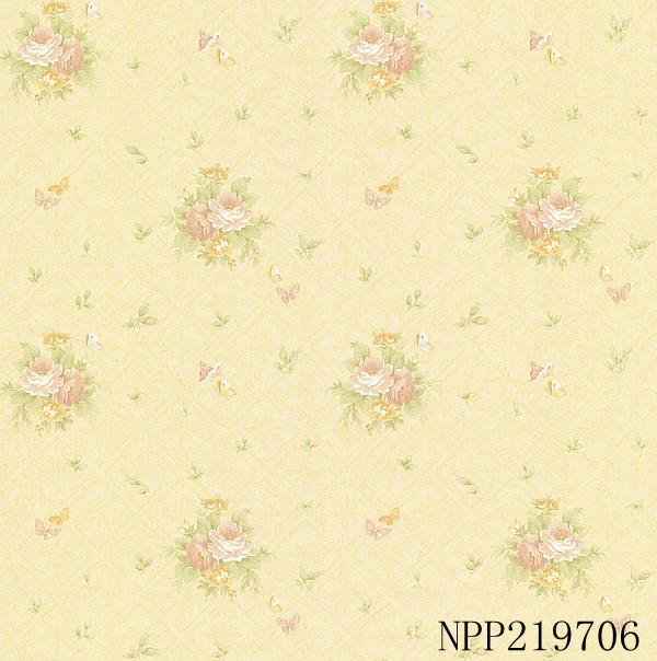 玉兰墙纸 蔷薇之恋NPP219701 新款欧式风格电视背景墙卧...