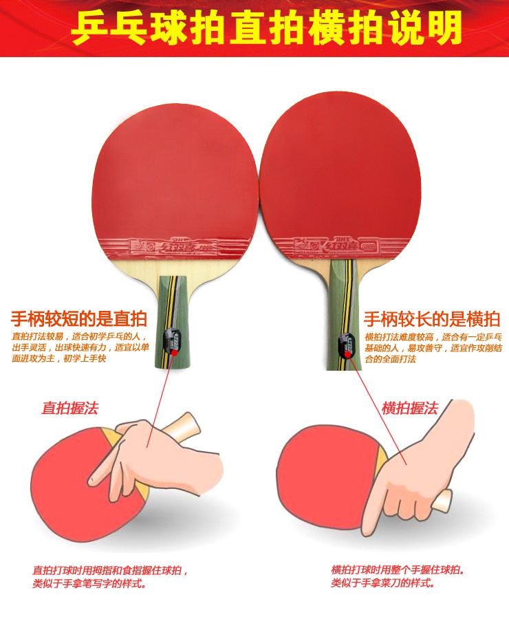 红双喜6星乒乓球拍弧圈结合快攻/全能型训练提高水平