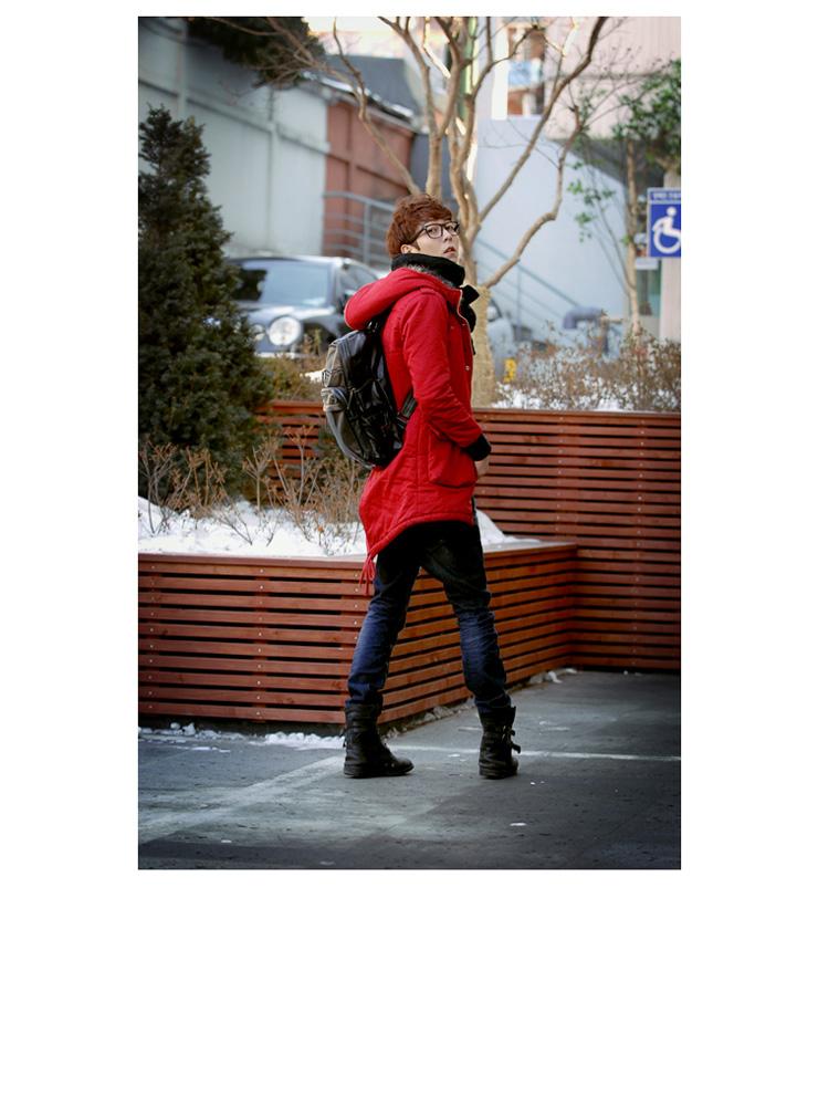 BFS韩国时尚男士牛皮双肩背包 电脑包 b1901