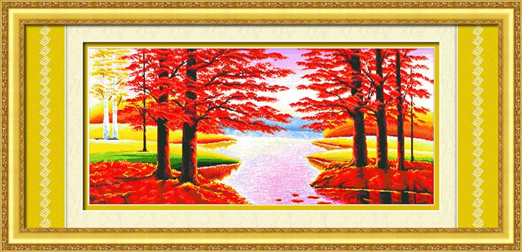 00 数码印花十字绣鸿运当头招财版红树林客厅装饰大画图 图案印好图片