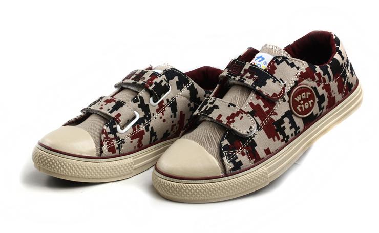 回力童鞋(warrior)2013春季新款儿童迷彩帆布鞋wz