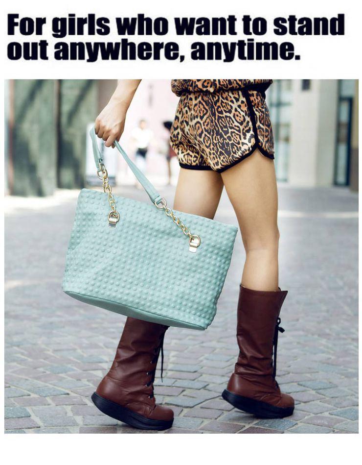 条单肩手提女包时尚包包