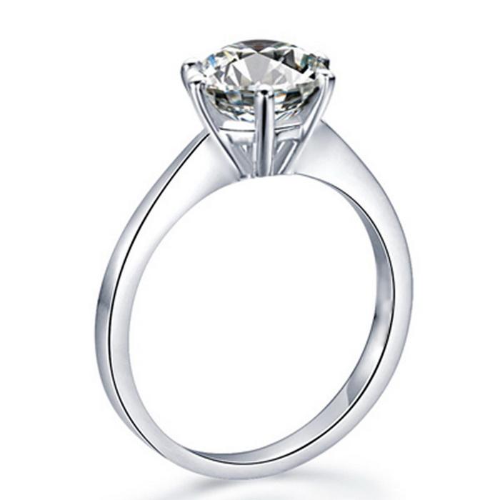 地球城钻石白18K金50分FSI1GIA裸钻六爪皇冠