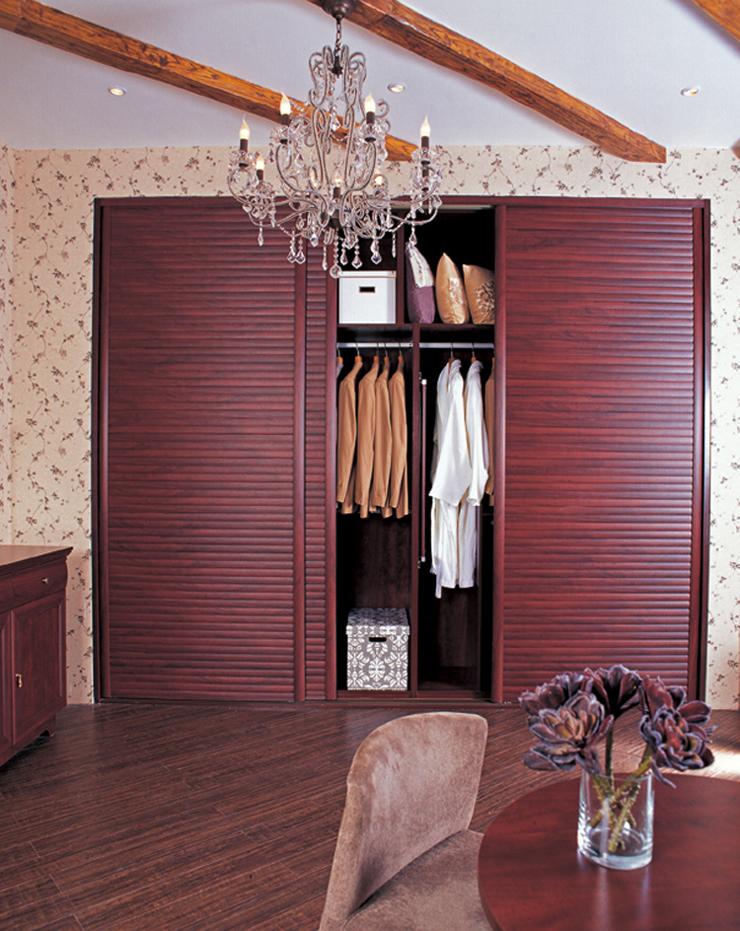 亚C3框花梨木平板推拉门定制衣柜 柜门 平米