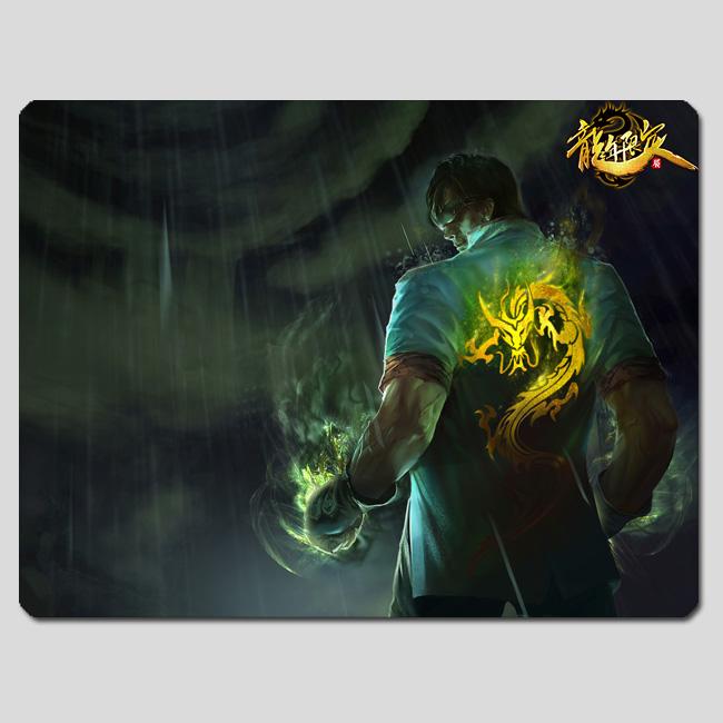 游戏周边 英雄联盟 lol 盲僧李青 龙的传人皮肤鼠标垫图片