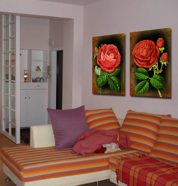 室全室美 书房装饰画现代客厅卧室无框画装饰画壁画挂画三...