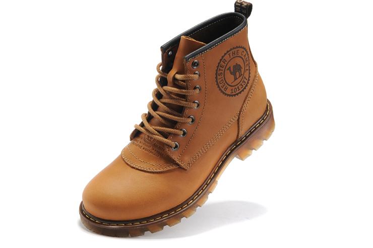 cantorp/骆驼牌 靴子 高帮男士马丁靴户外保暖工装靴