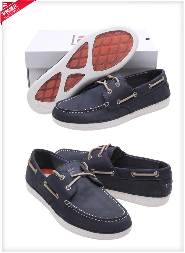 fila斐乐男鞋时尚韩版牛皮帆船鞋21235313