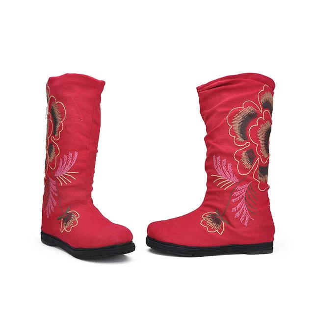 老北京布鞋时尚绣花靴
