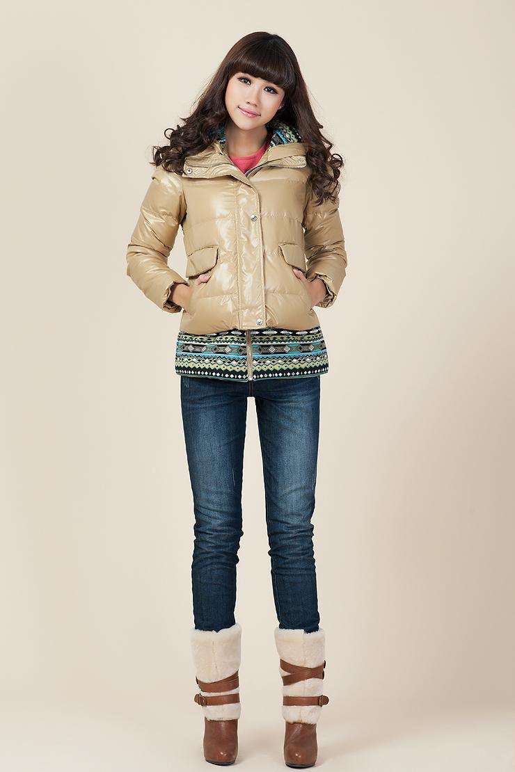 艾唯都eawdo2012冬装新品<font color=red>卡其色</font>时尚保暖女