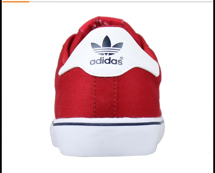 adidas阿迪达斯三叶草男鞋低帮红色帆布鞋运动鞋旅游