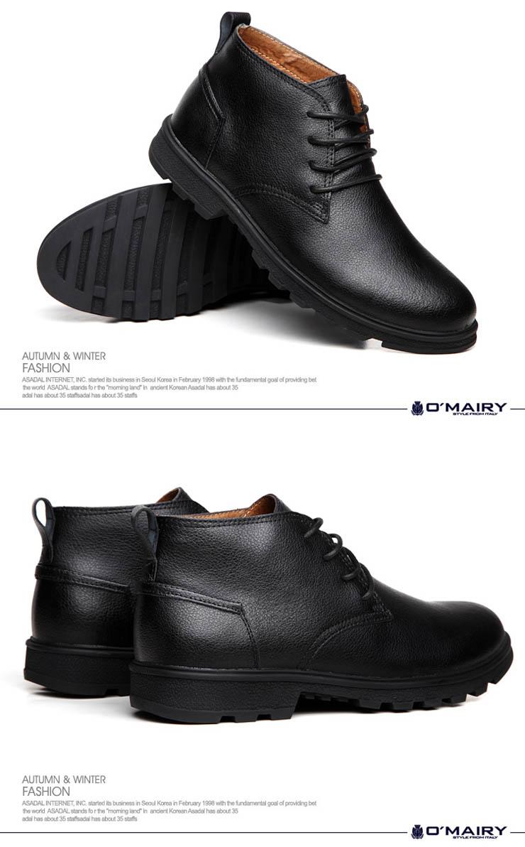 真皮日常商务休闲男鞋保暖棉鞋短靴雪地靴