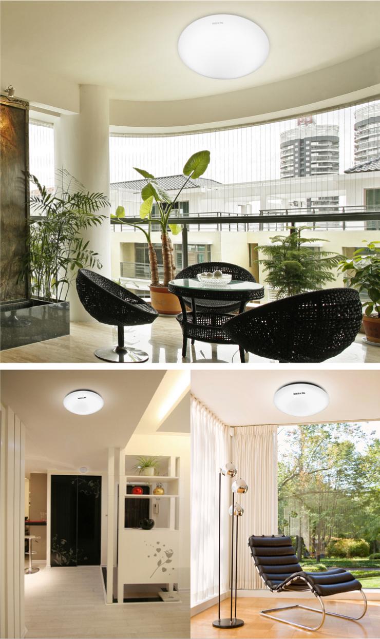 家装节 华艺灯饰 现代简约面包灯 吸顶灯卧室灯阳台灯厨房灯具 JZX01