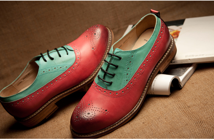 界韩版英伦潮鞋情侣鞋布洛克皮鞋休闲鞋男鞋子男士鞋