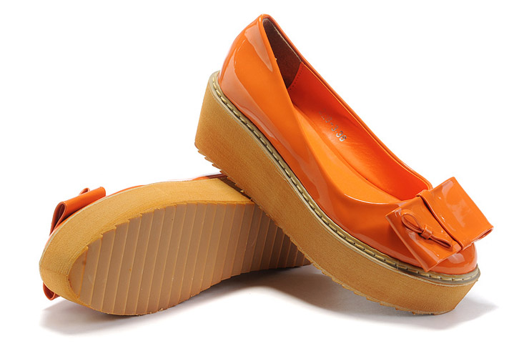 欧美英伦尖头松糕鞋厚底高跟鞋时尚单鞋坡跟女鞋子