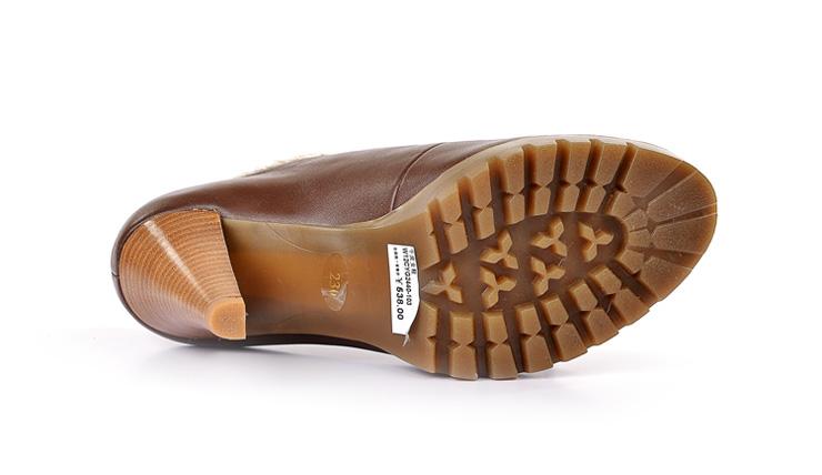 女休闲系带高跟单鞋244
