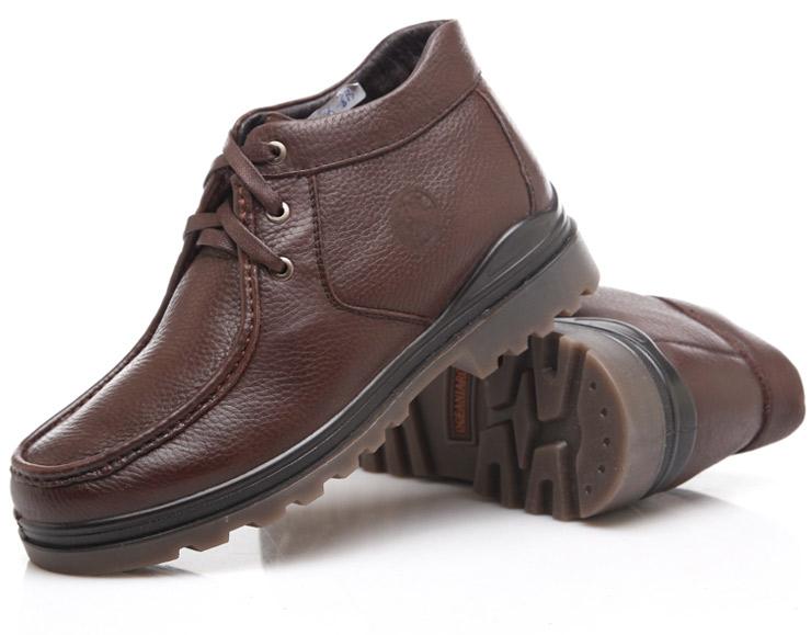大洋洲袋鼠(Oceania Roo)男棉鞋头层牛皮加绒
