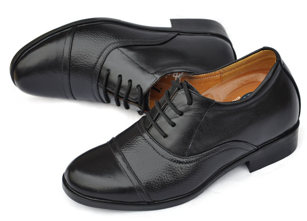 帅神隐形内增高鞋 男式商务正装皮鞋