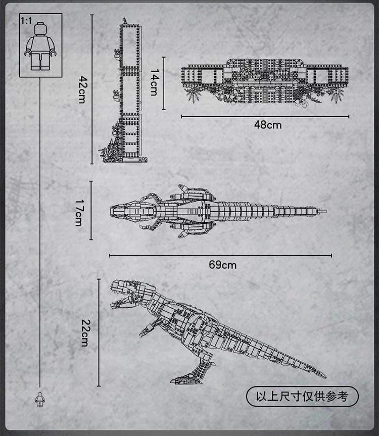 乐高(LEGO)侏罗纪世界系列 16岁+ 【D2C旗舰店限定款】 暴走霸王龙粉丝收藏款75936