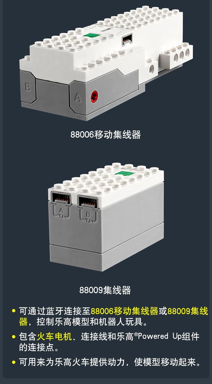 乐高(LEGO)电动套件 Power Functions系列 7岁+ 火车电机 88011