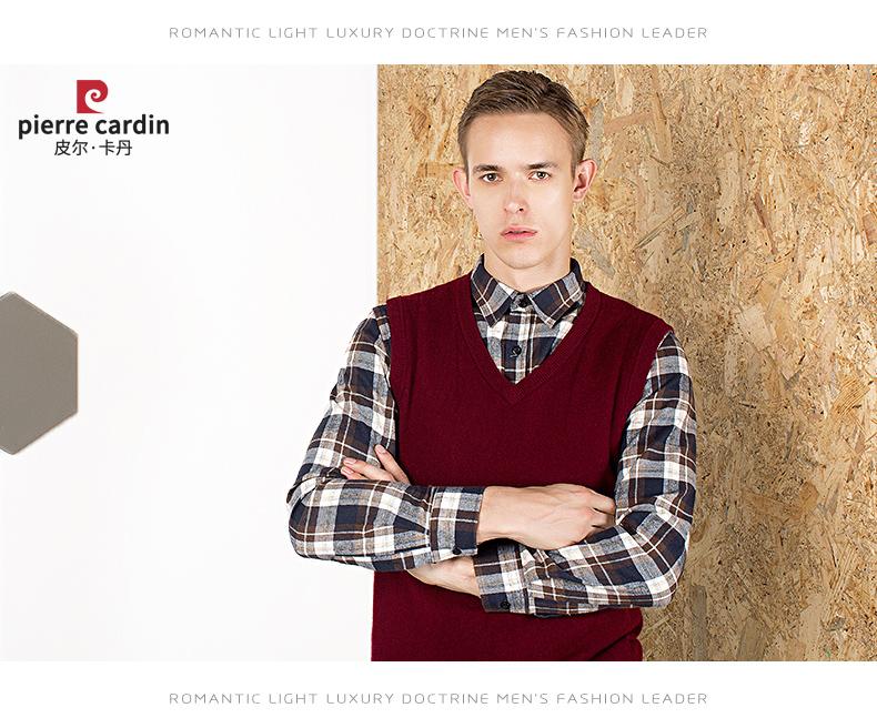 Áo len lông cừu nam Pierre Cardin V 175L65 70KG WA152 - ảnh 15