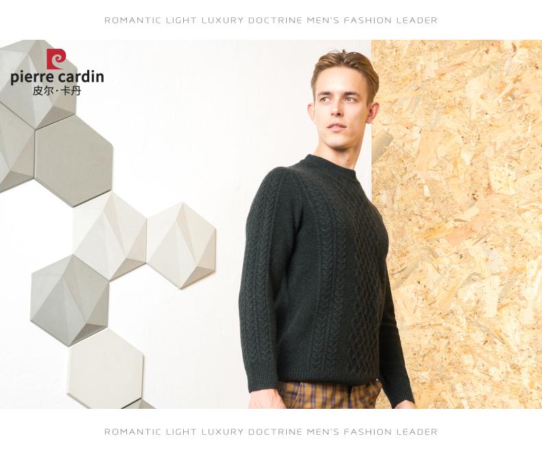 Áo len lông cừu nam Pierre Cardin 2017 180XL70 80KG WA86038 - ảnh 14