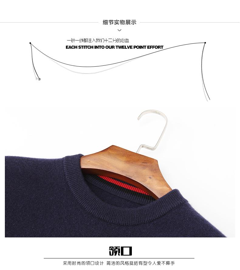 Áo len lông cừu nam Pierre Cardin 2017 175L65 70KG WA096 - ảnh 24