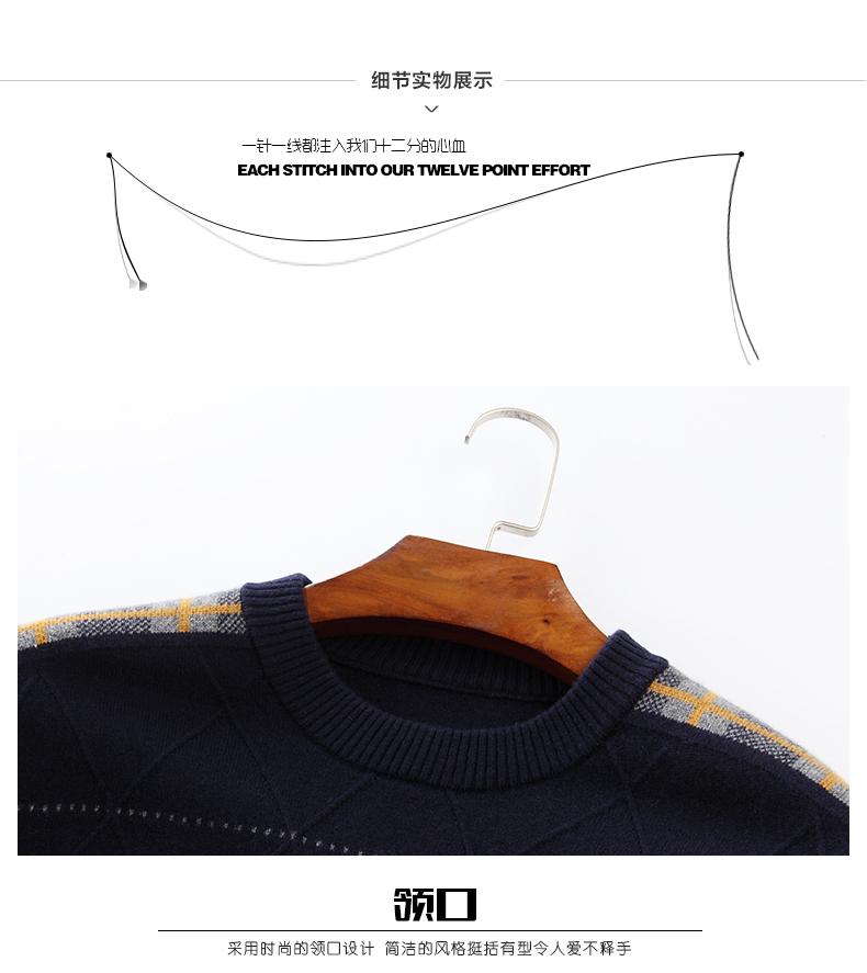 Áo len lông cừu nam Pierre Cardin 2017 170M55 65KG YR003 - ảnh 20