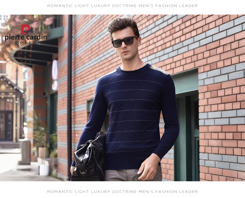 Áo len lông cừu nam Pierre Cardin 2017 170M55 65KG YR003 - ảnh 12