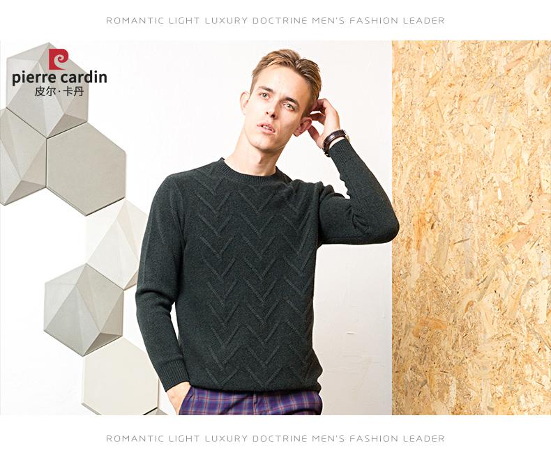 Áo len lông cừu nam Pierre Cardin 1002017 175L6570KG WA86158 - ảnh 15