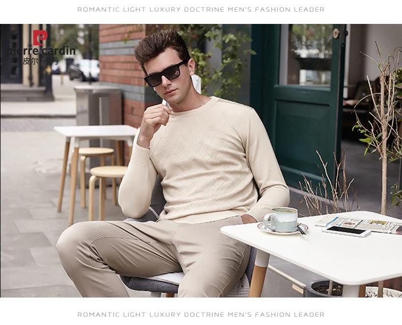 Áo len lông cừu nam Pierre Cardin 2017 180XL70 80KG YR001 - ảnh 13