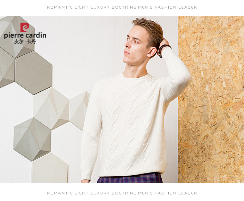 Áo len lông cừu nam Pierre Cardin 1002017 175L6570KG WA86158 - ảnh 18