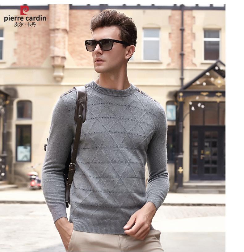 Áo len lông cừu nam Pierre Cardin 2017 170M55 65KG YR003 - ảnh 14