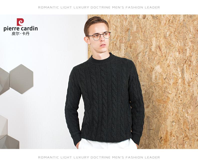 Áo len lông cừu nam Pierre Cardin 2017 180XL70 80KG WA87021 - ảnh 14