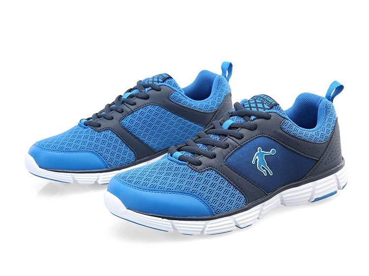乔丹跑步鞋男鞋运动鞋2015新款透气男休闲慢跑鞋运动鞋xm1550259 青灰