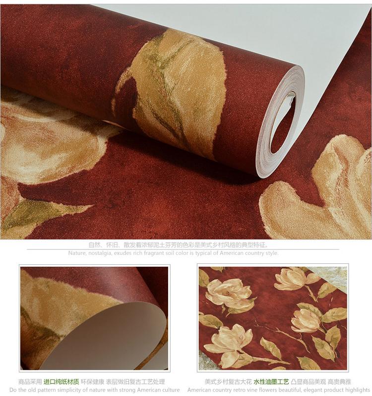 美式乡村纯纸墙纸