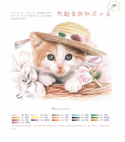 铅笔萌猫画法步骤图
