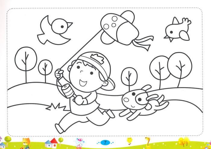儿童彩笔画6