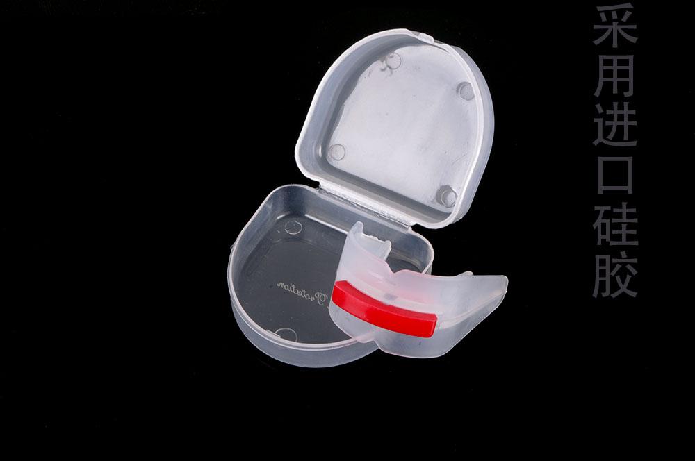 Ruaisen双面碰撞格斗护齿 成人护齿套 美国进口硅胶牙套 口香糖盾