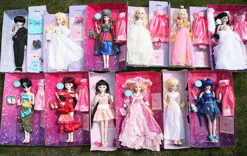 叶罗丽 娃娃精灵梦 60cm夜萝莉孔雀仙子衣服套装巴比娃娃公主玩具礼物图片